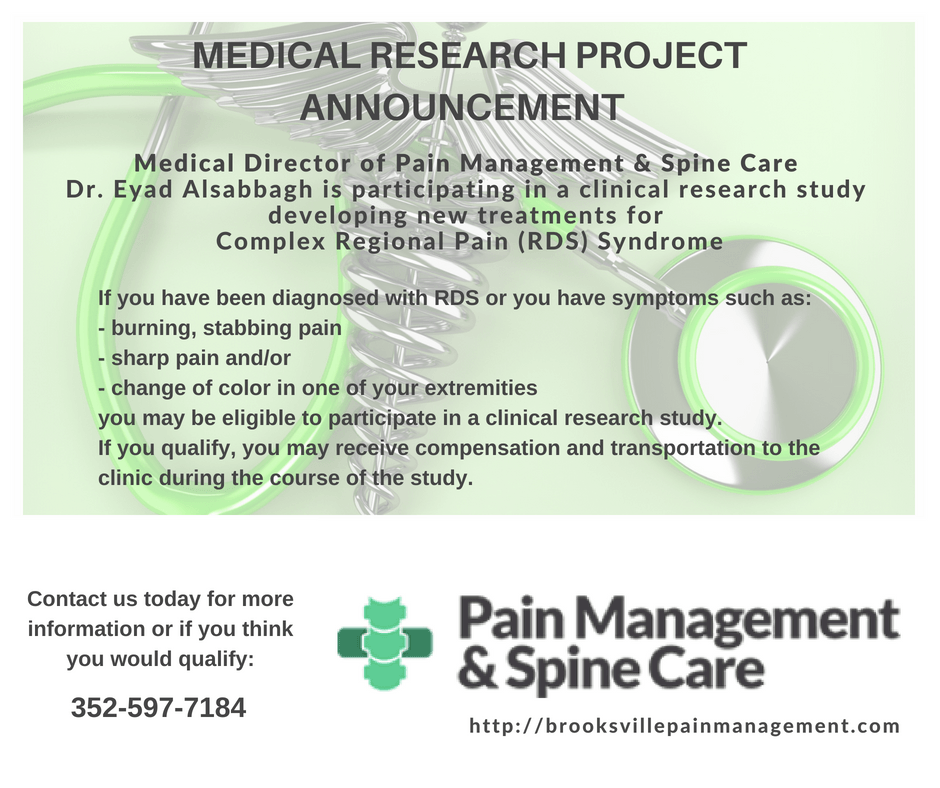 latest update from our clients  pain managemet