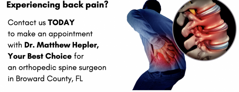 latest update from our clients  spine surgeon in Palm Beach County Dr. Matthew D Hepler