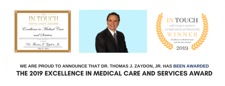 latest update from our clients  Workers Compensation Plastic Surgeon Dr. Thomas J. Zaydon Jr.