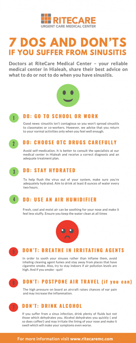 latest update from our clients  Dos & Don'ts if you suffer from sinusitis - medical center hialeah